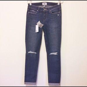 Paige Kylie Crop Rolled Cuff Jeans Sz 29